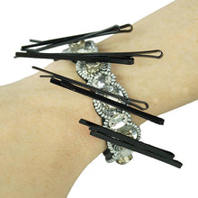 Bendable Magnetic Pin and Makeup Holder Bracelet - (Silver)