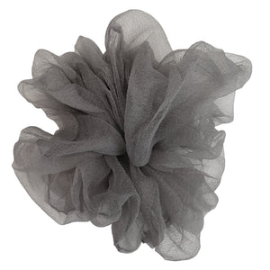 "Luxe ""Oversized"" Sheer and Delicate Scrunchie (Ash)"
