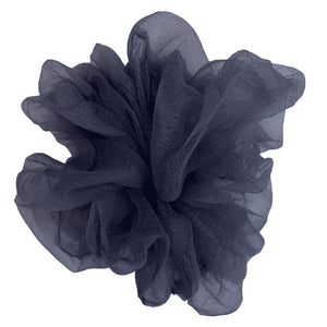 "Luxe ""Oversized"" Sheer and Delicate Scrunchie (Navy)"