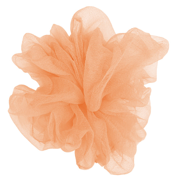 """Luxe """"Oversized"""" Sheer and Delicate Scrunchie (Flamingo) 1"""