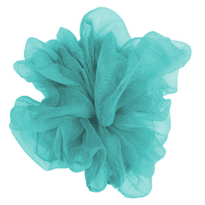 "Luxe ""Oversized"" Sheer and Delicate Scrunchie (Aqua)"