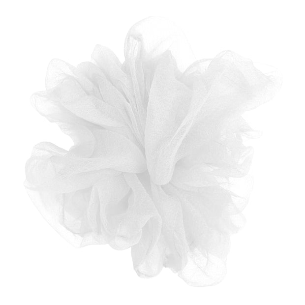 """Luxe """"Oversized"""" Sheer and Delicate Scrunchie (Snowy) 1"""