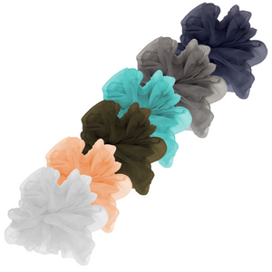 "Luxe ""Oversized"" Sheer and Delicate Scrunchie (Cotton Candy Pack - 6pc)"