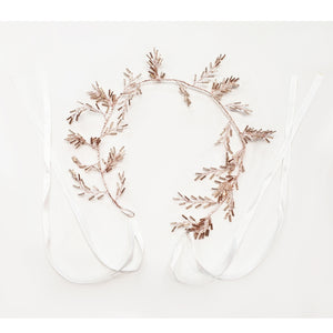 Flexible Leaflet Hair Vine (Rose Gold)