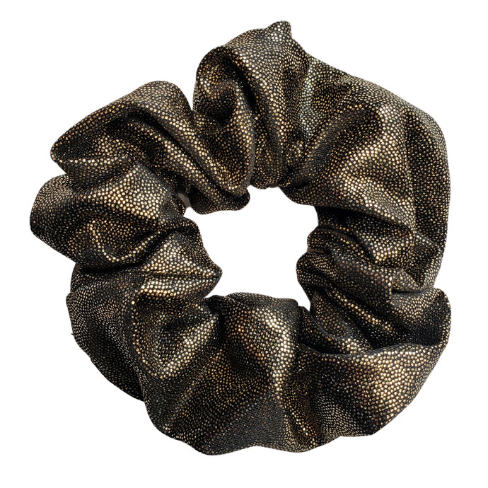 Silky and Smooth Metallic Dots Scrunchie (Moonlight)