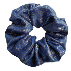 Silky and Smooth Metallic Dots Scrunchie (Aqua Marine)
