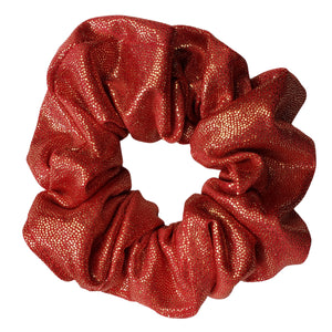 Silky and Smooth Metallic Dots Scrunchie (Royalty Red)