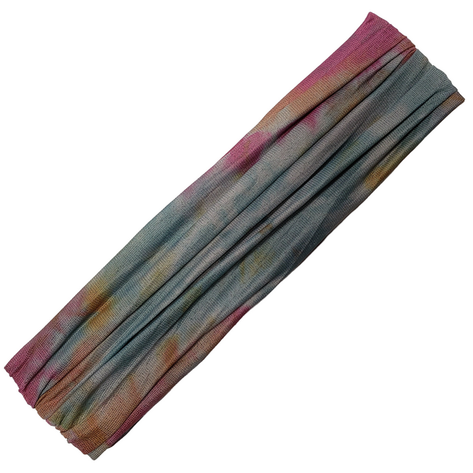 Rue - Wide Sports Wrap / Face Scarf  (Tie-Dye Tropical Mermaid)
