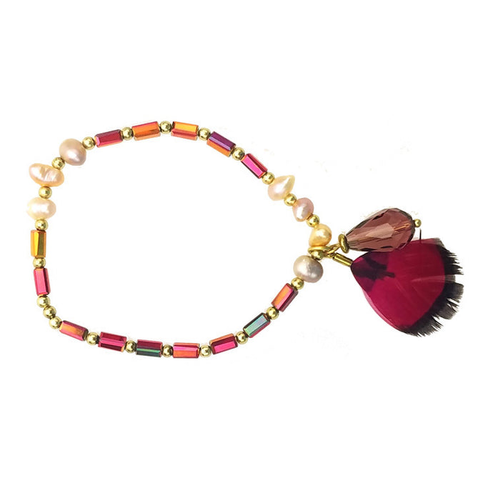Zigi - Elastic Bracelet (Ruby / Red)