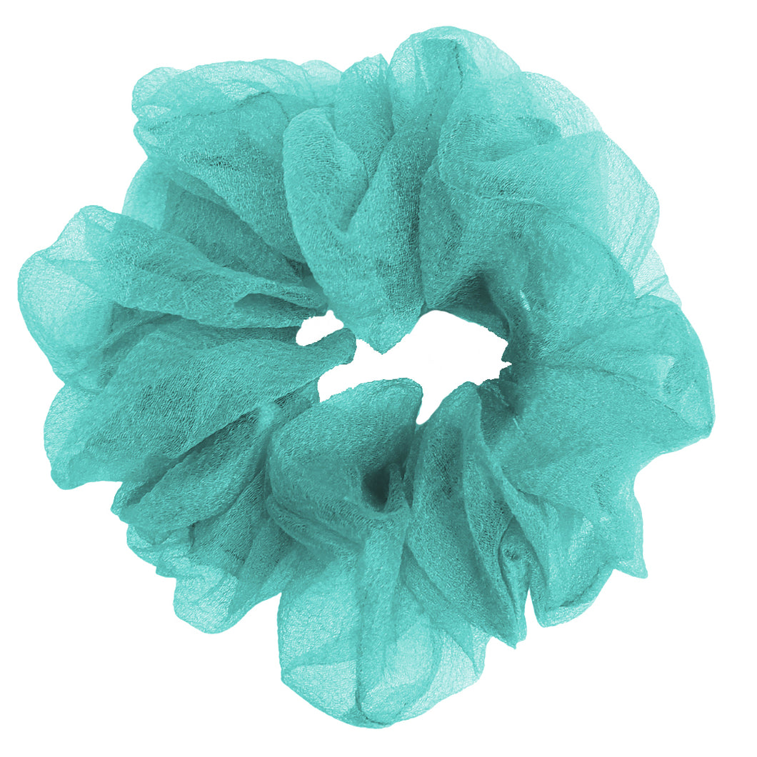 Luxe Sheer and Delicate Scrunchie (Aqua)