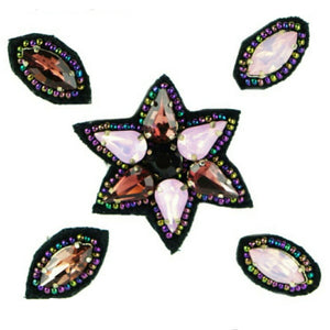 Naomi- Bandless, Clipless Jewels (Set of 5) - Purple