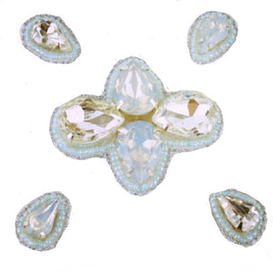 Naomi- Bandless, Clipless Jewels (Set of 5) - Iridescent Mint