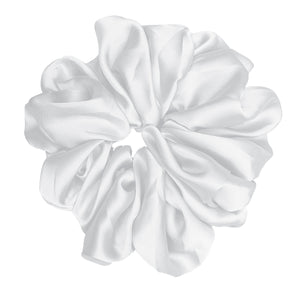 "Luxe ""Oversized"" Plush Scrunchie (Pearl)"