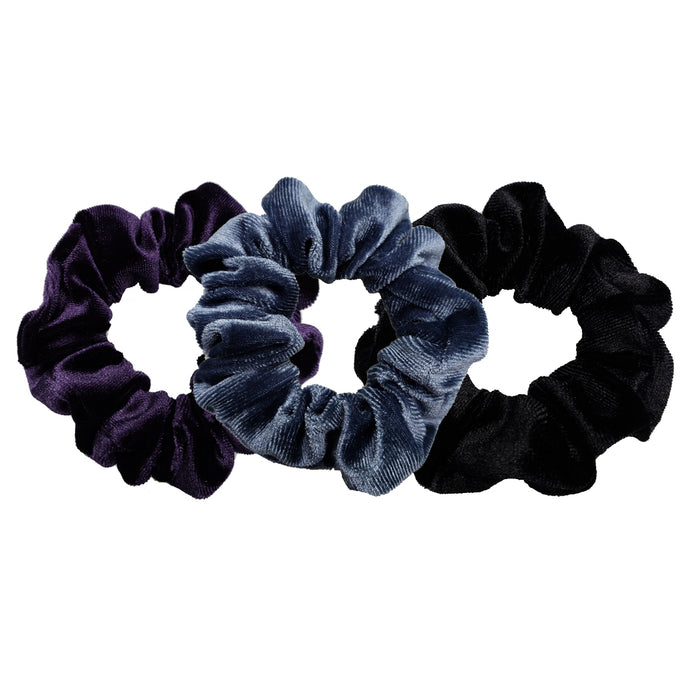 Luxe Velvet Scrunchie 3-Pack (Black Raspberry)