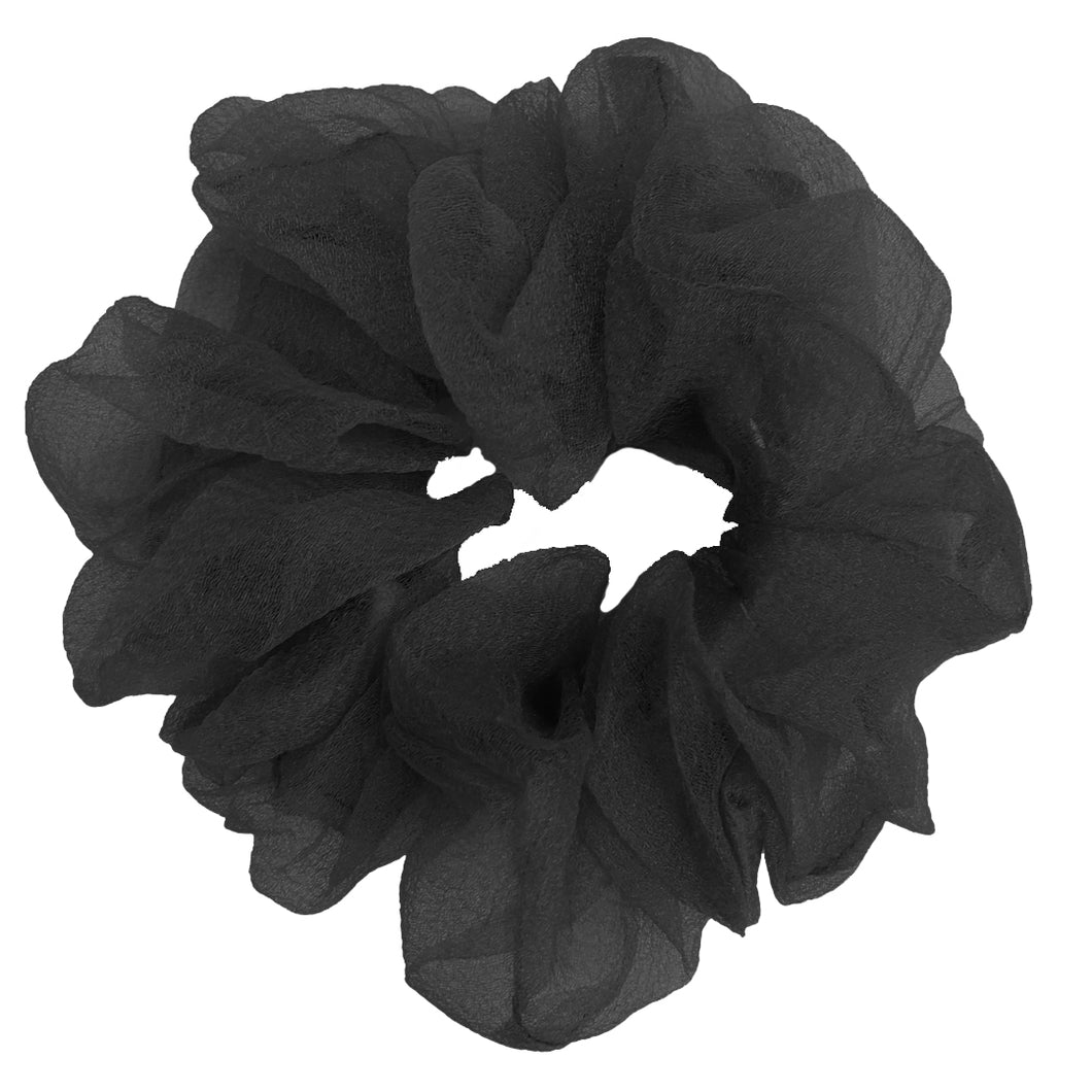 Luxe Sheer and Delicate Scrunchie (Black)