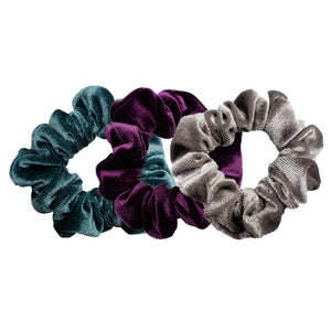 Luxe Velvet Scrunchie 3-Pack (Blueberry Cheesecake)