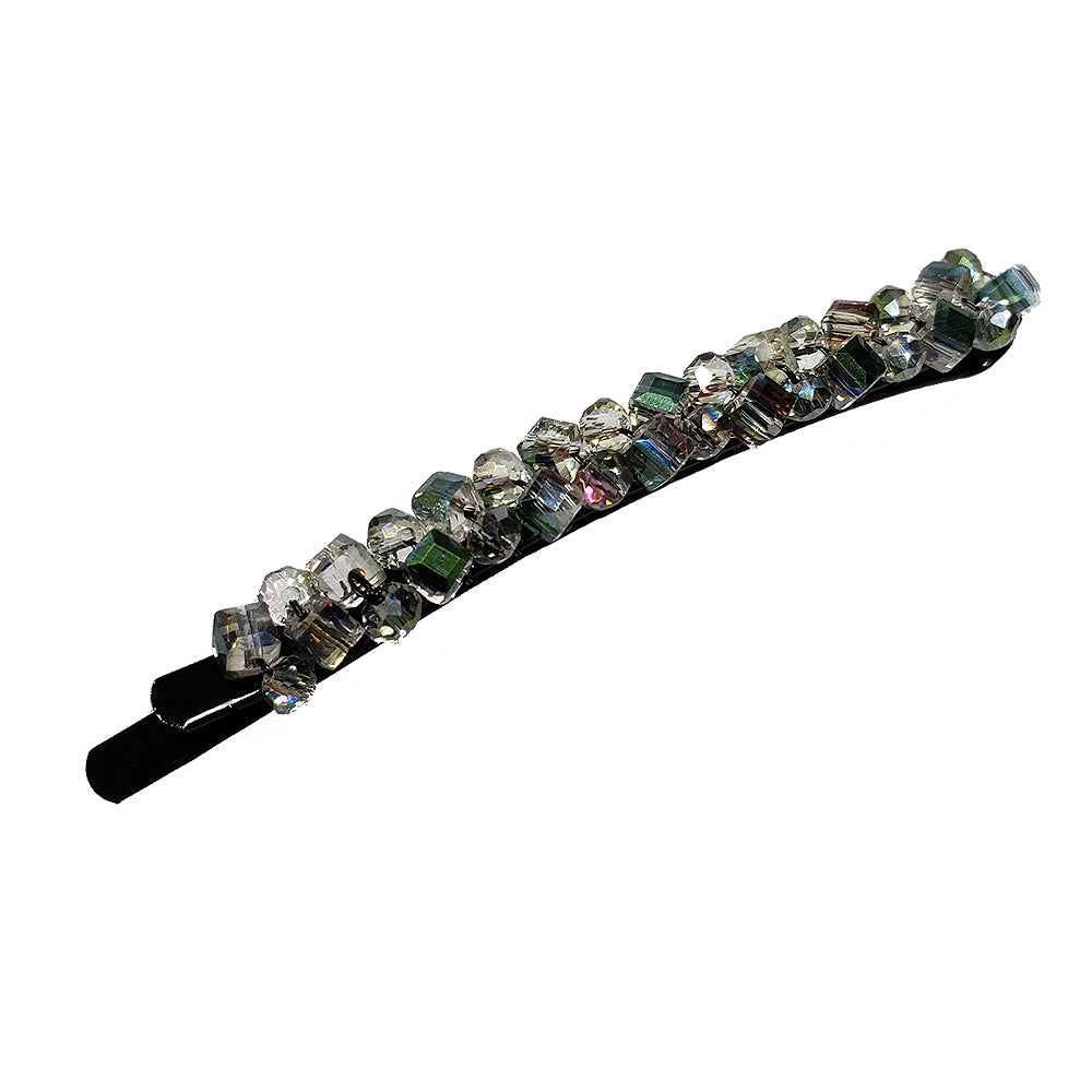 Bobbi - Beaded Rounded Bobby Pin (Prism)