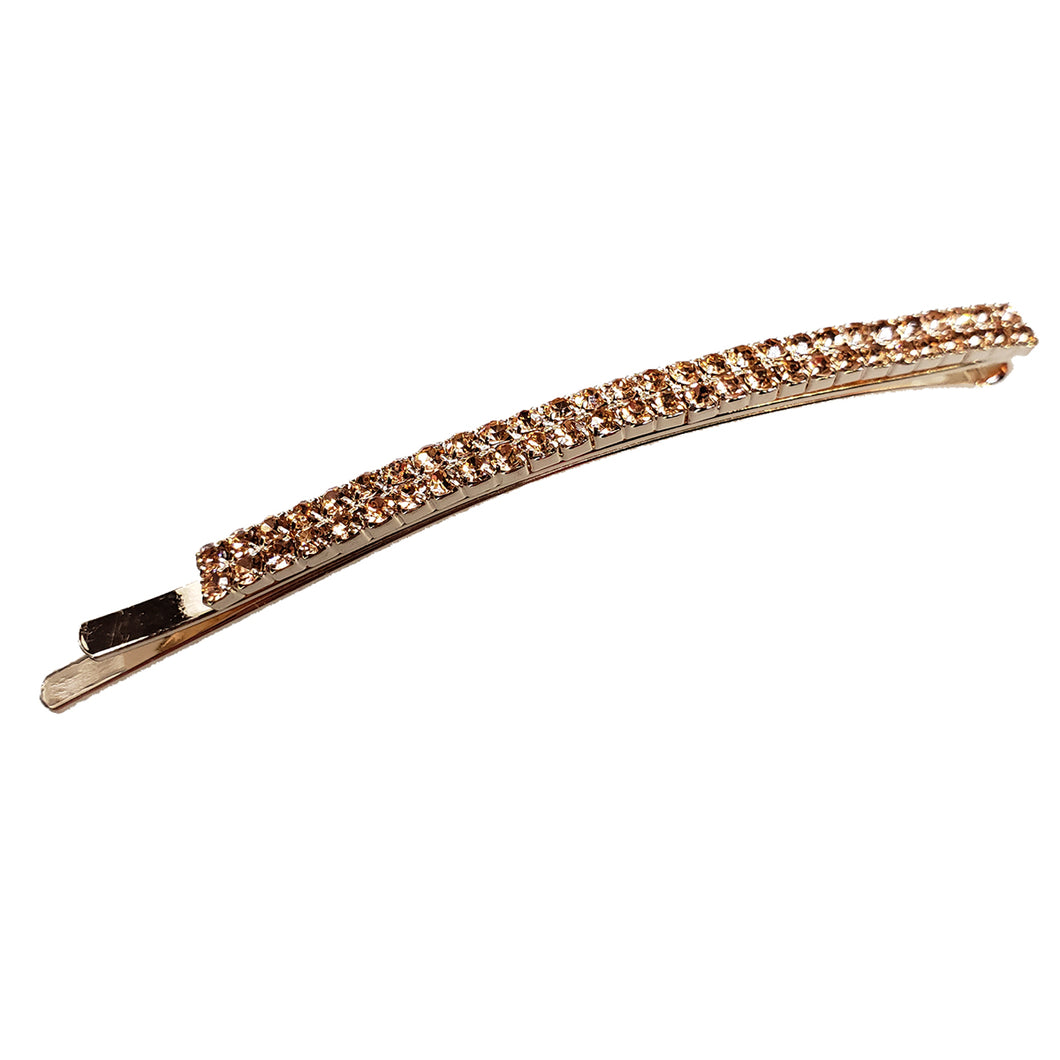 Spark - Rounded Metal Bobby Pin (Rose Gold)