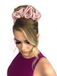 "Luxe ""Oversized"" Plush Scrunchie (Blush)"