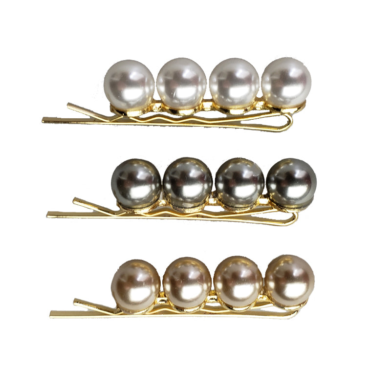 Catherine the Great - Linear Pearls Bobby Pin Set (3pc)