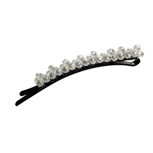 Bobbi - Beaded Rounded Bobby Pin (Crystalized)