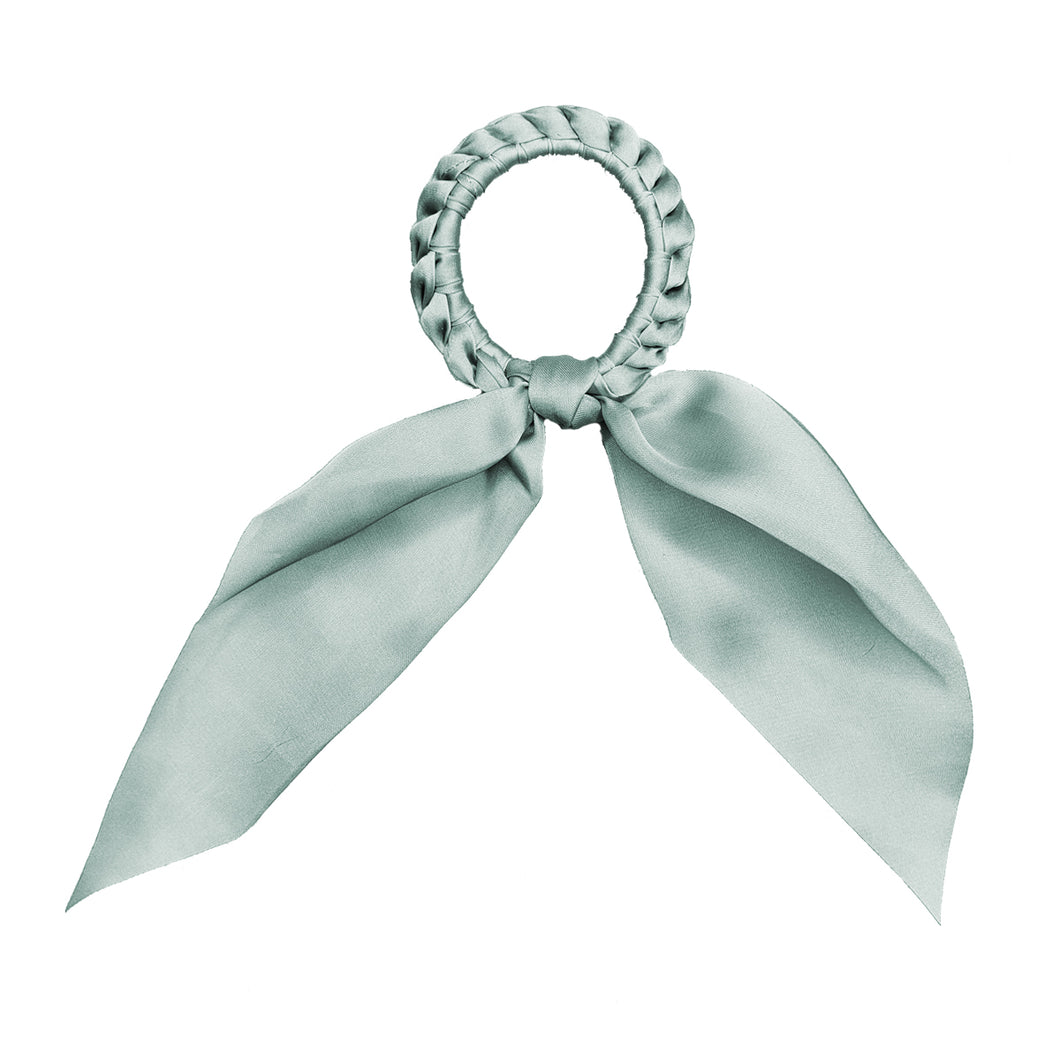Darling - Short Tail Silk Scrunchie (Sea Mist)