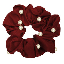 Flashy Pearl and Satin Scrunchie