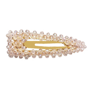 Isabella of Portugal - Beaded Snap Clip (Rose Tint)
