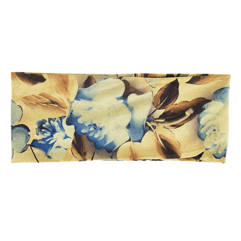 Kippy - Microfiber Sports Wrap (Floral Blue/Brown)
