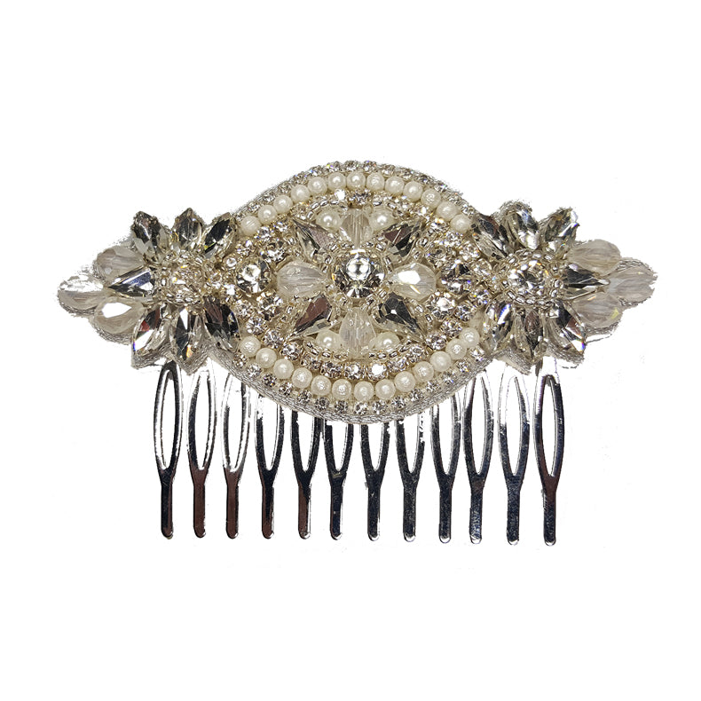Merri - Beaded Hair Slide / Comb