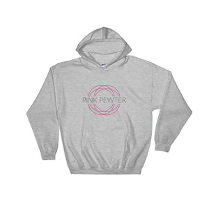 "InspireME Hooded Sweatshirt - ""Pink Pewter"""