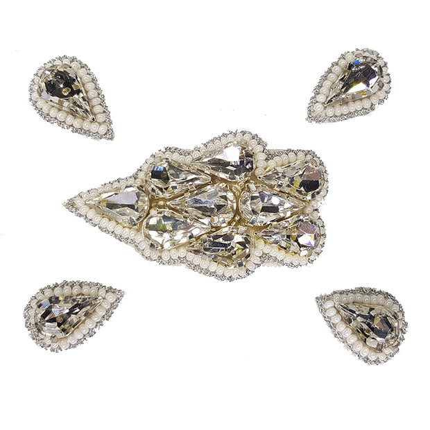Naomi- Bandless, Clipless Jewels (Set of 5) - Silver 1