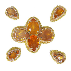 Naomi- Bandless, Clipless Jewels (Set of 5) - Orange