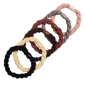 Pony Elastics in Cylinder (Neapolitan Braids - 6pc)