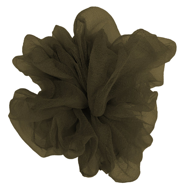 """Luxe """"Oversized"""" Sheer and Delicate Scrunchie (Sage) 1"""