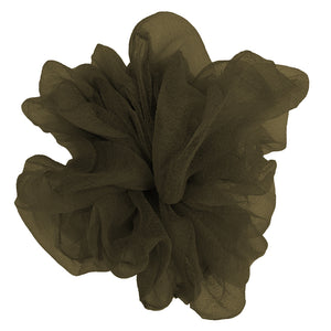 "Luxe ""Oversized"" Sheer and Delicate Scrunchie (Sage)"
