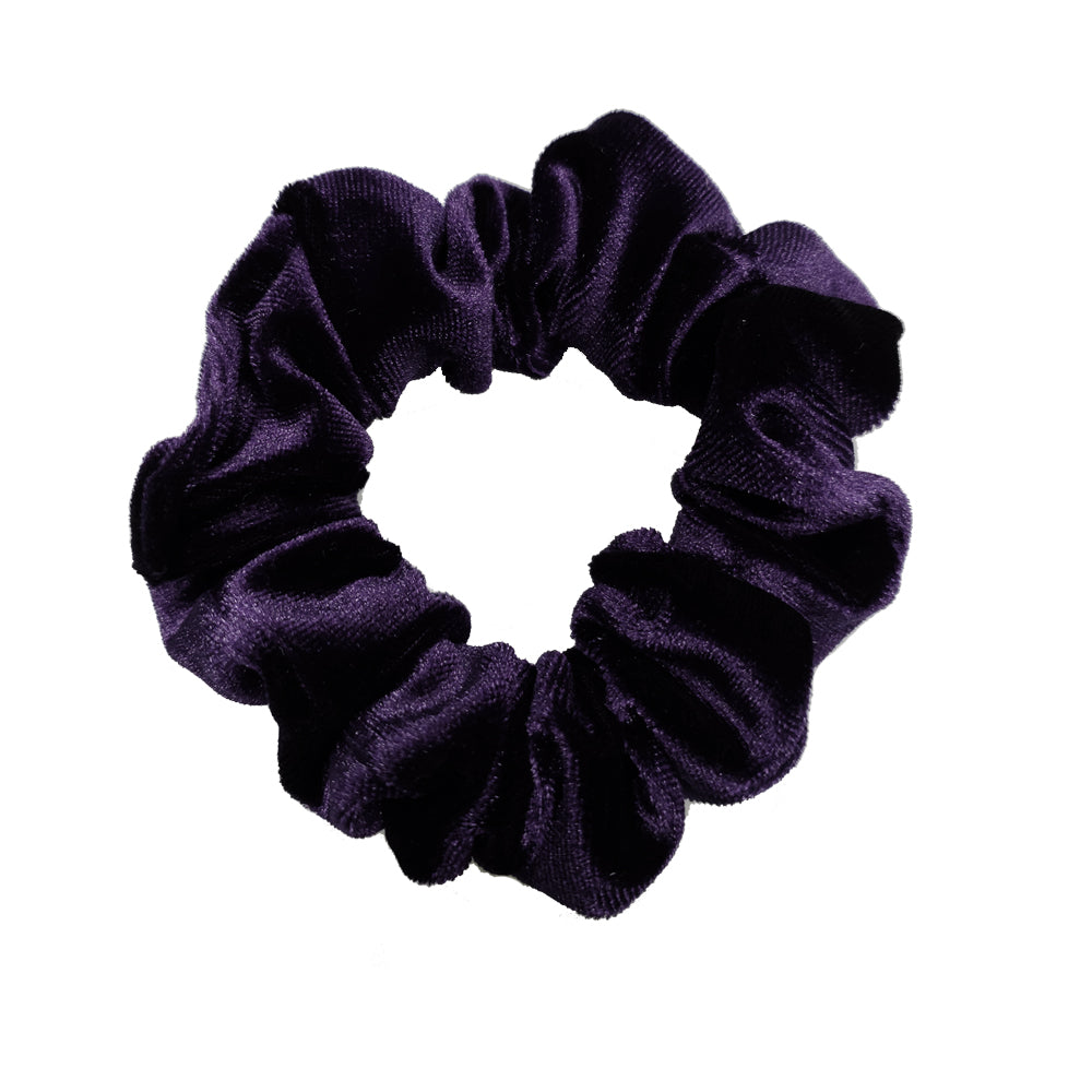 Luxe Velvet Scrunchie (Blackberry)