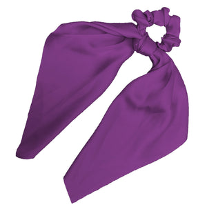 Sweet Sixteen - Long Tail Silk Scrunchie (Purple)