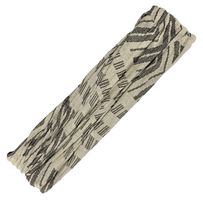 Rue - Wide Grey Arrows Sports Wrap / Face Scarf  (#108)