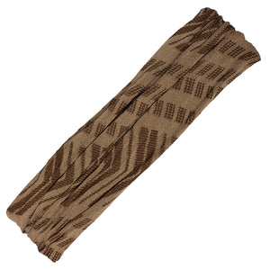 Rue - Wide Brown Arrows Sports Wrap / Face Scarf (#109)