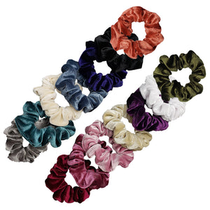 Luxe Velvet Scrunchie 14-Pack