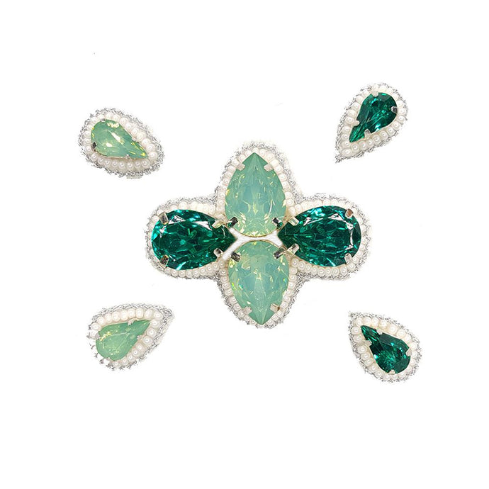 Naomi- Bandless, Clipless Jewels (Set of 5) - Emerald