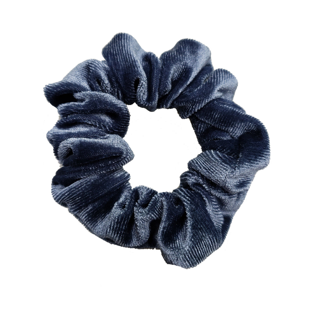 Luxe Velvet Scrunchie (Blueberry)