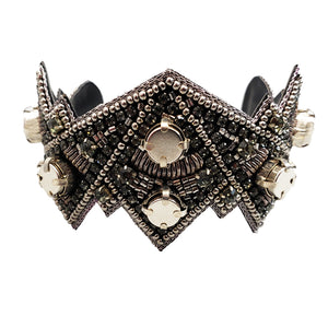 Bendable Magnetic Pin and Makeup Holder Bracelet - (Slate Spikes)