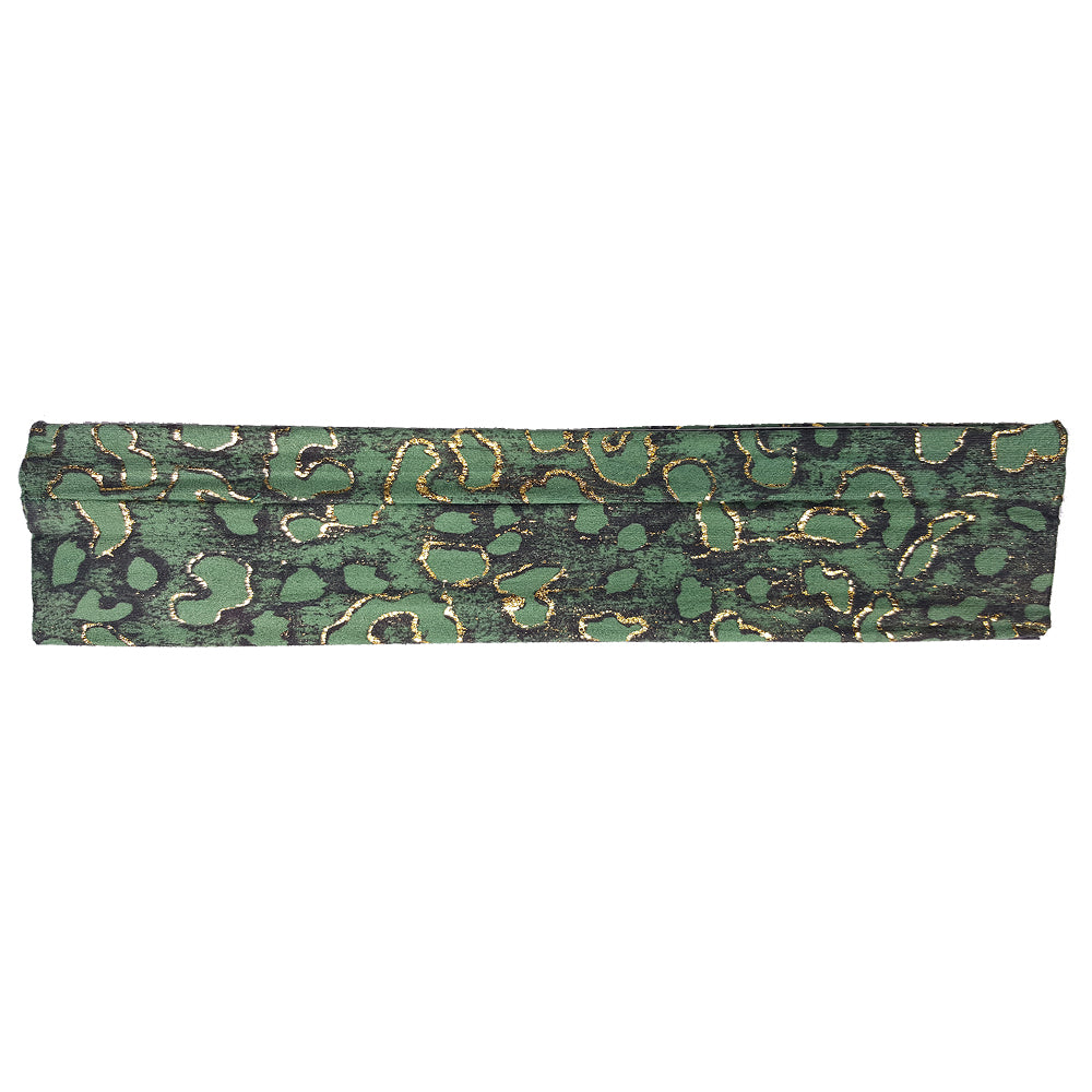 Stella - Microfiber Sports Wrap (Green Leopard)