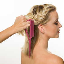 """Never Let Go"" Carbon Fibre Color and Styling Comb (Pink)"