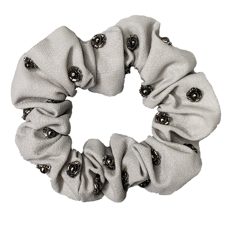 Sweet Pea - Light Fabric Scrunchie (Grey)