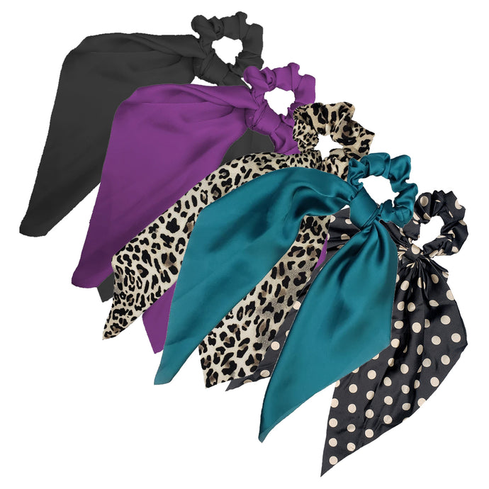 Sweet Sixteen Long Tail Scrunchie Contrast Mix (5pcs)