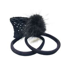 Traya - Mink Poof Pony (Black - 3pc)