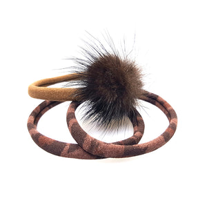 Traya - Mink Poof Pony (Leopard / Brown - 3pc)